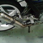AHM M1 Trioval Exhaust for Yamaha FZ-150i