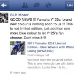 2012 Yamaha Y125ZR in Blue is Coming Soon