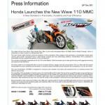 2012 Honda Wave 110 MMC by Boon Siew Honda Malaysia – RM4,771(R), RM5,228 (RS)