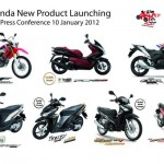 Seven New Models for 2012 by AP Honda Thailand