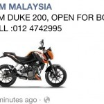 KTM Duke 200 is now really available here in Malaysia for booking!