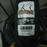 2013 Shinko K3 iTrack motorcycle tyre in new sizes 100/70-17, 110/70-17 and 130/70-17