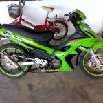 Modified Modenas Dinamik 120 2-stroke Lime Green