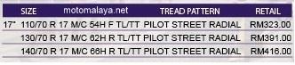 pilot-street-radial-price