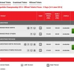 World Superbike Championship (WSBK) Sepang Ticket are now available for sale