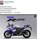 2015 Yamaha YZF-R25 in Malaysia is RM19,783?