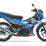 2015 Suzuki Address 115 and Suzuki Satria F150 MotoGP official livery in Indonesia